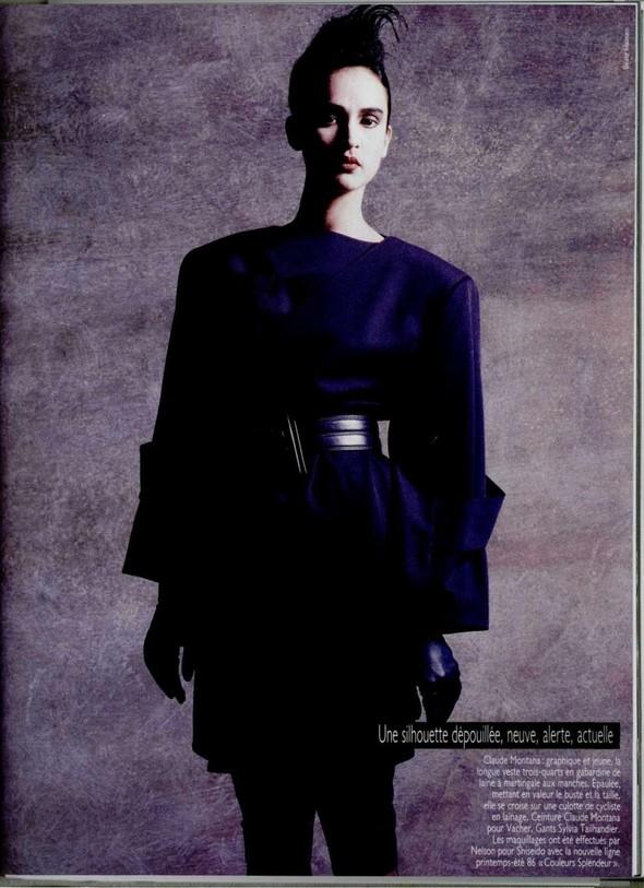 Архивная съёмка: Беате Ханзен для L'Officiel, 1986. Изображение № 6.