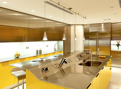 Современная желтая кухня фирмы Snaidero. Изображение № 2.