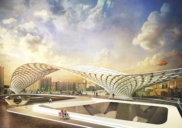 Выложены 74 проекта нового моста через Темзу. Изображение № 22.