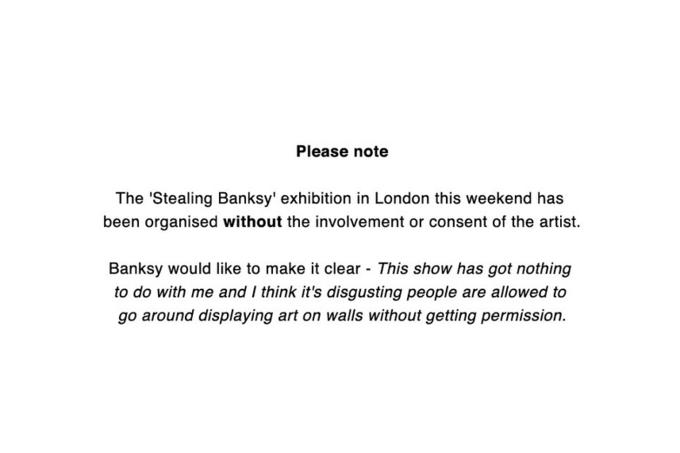 Бэнкси осудил организаторов выставки с подделками его работ. Изображение № 1.