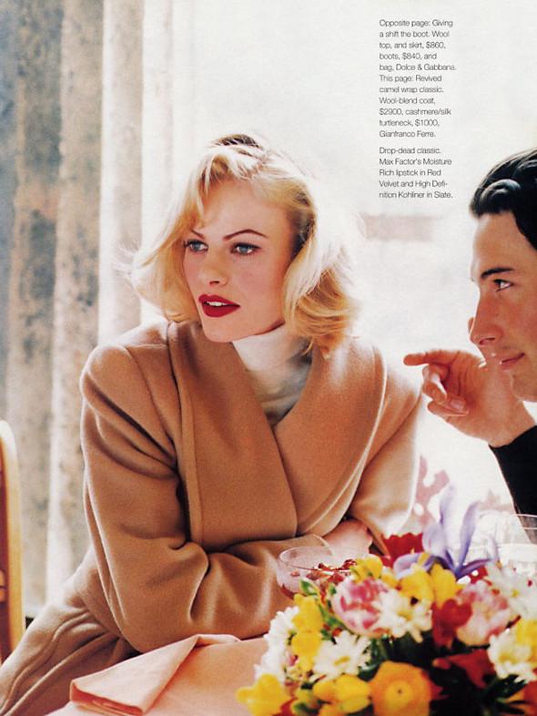 Архивная съёмка: Эмма Балфор для Marie Claire, 1995. Изображение № 5.