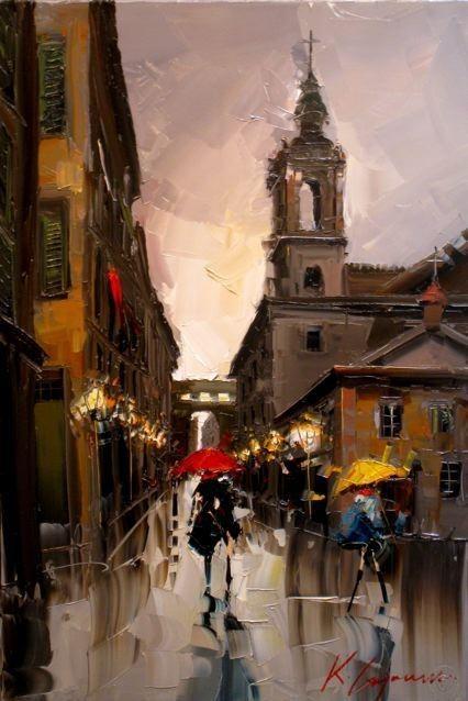 Красные зонтики художника Kal Gajoum. Изображение № 12.