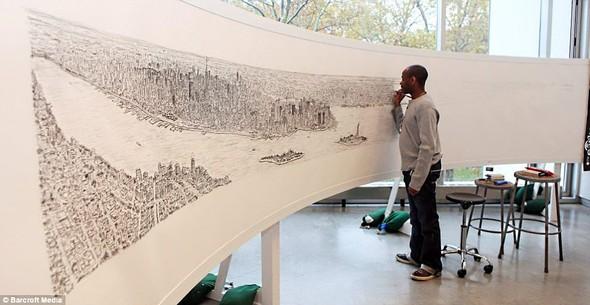 Стивен Вилтшер. Художник рисующий панорамы городов по памяти. Изображение №1.