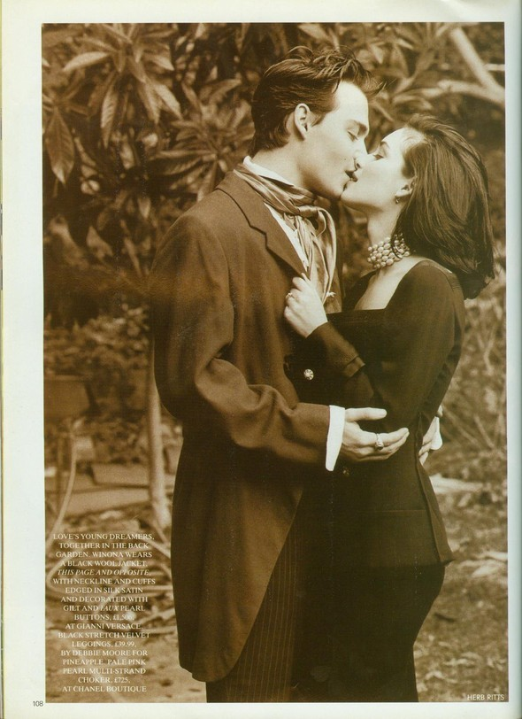 Johnny Depp and Winona Ryder for Vogue UK May'91. Изображение № 3.