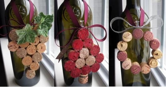 Новогодние украшения из винных пробок. Изображение № 10.