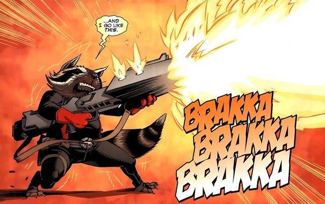 Енот Ракета (он же Реактивный енот) в комиксах. Изображение № 1.