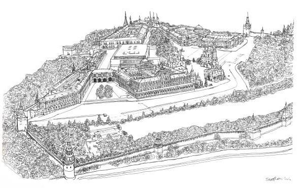 Стивен Вилтшер. Художник рисующий панорамы городов по памяти. Изображение №20.