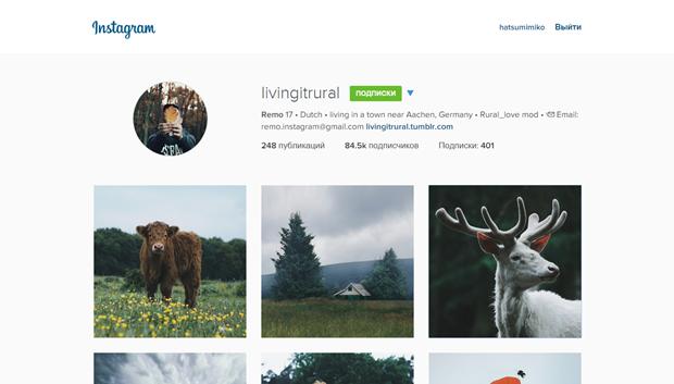 Instagram обновил дизайн веб-версии. Изображение № 1.