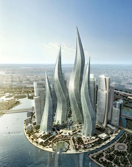 Башни вформе горящих свечей вДубаи. Изображение № 2.