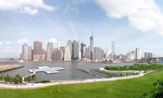 В Сети собирают деньги на экспериментальный бассейн в Нью-Йорке. Изображение № 1.