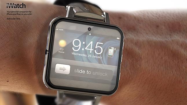 Один из неофициальных концептов Apple iWatch авторства итальянского дизайн-бюро ADR. Изображение № 1.