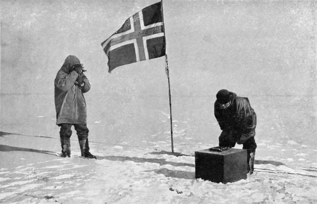 Экспедиция Руаля Амундсена на южном полюсе. Изображение № 4.