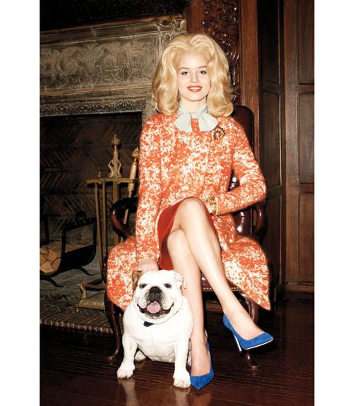 Терри Ричардсон снял Джорджию Мэй Джаггер в образе Маргарет Тэтчер. Изображение № 9.