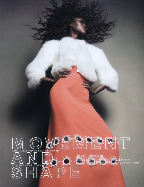 Съёмка: Няша Матонодзе для японского Vogue. Изображение № 1.