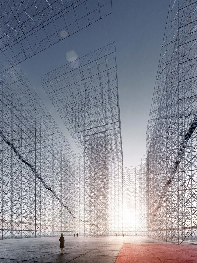 Архитектор представил проект памятника идеям Эль Лисицкого. Изображение № 1.