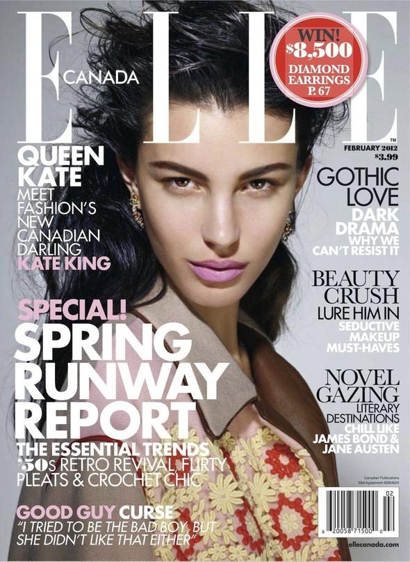 Обложки Elle: Аргентина, Британия, Италия и Канада. Изображение № 4.