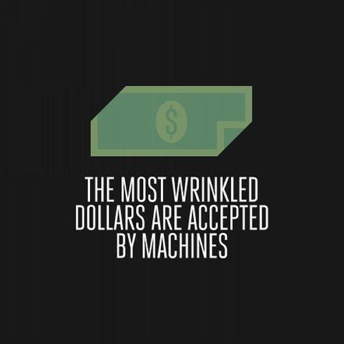 Самые помятые купюры всегда принимаются автоматами. Изображение № 7.