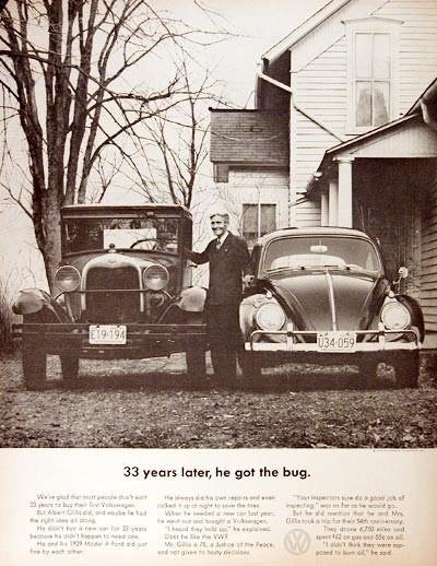 Эволюция рекламы Volkswagen. Изображение № 1.