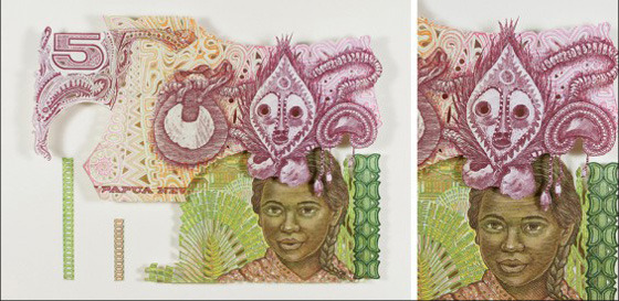 Картины и коллажи из денег Родриго Торреса. Изображение № 10.