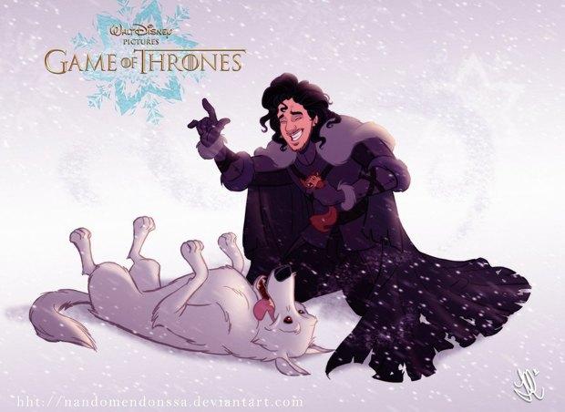 «Игру престолов» превратили в мультфильм Disney. Изображение № 2.