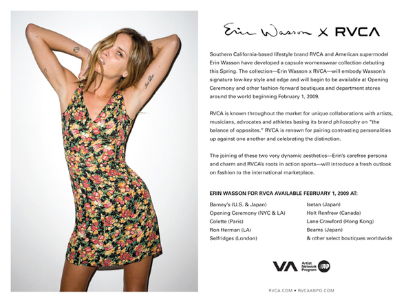 Erin Wasson&RVCA&Fashion. Изображение № 3.