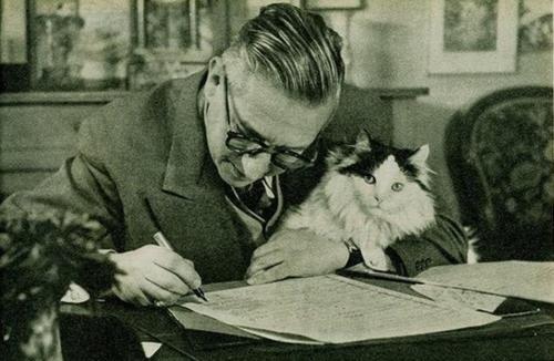 Знаменитые писатели и котики. Изображение № 18.