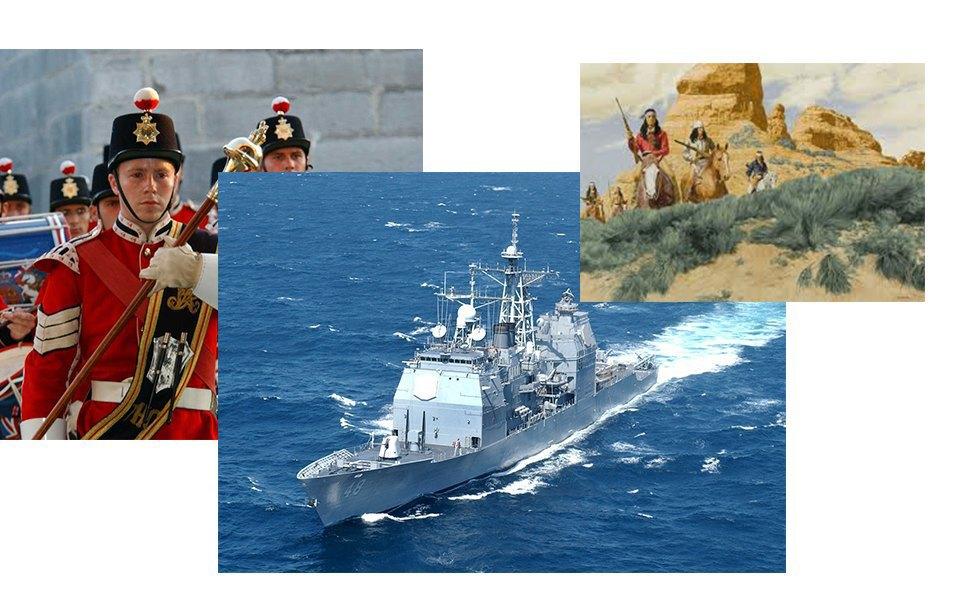 Американский Запад, военная тема, морской флот. Изображение № 12.