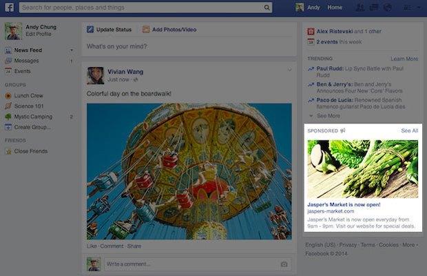 Facebook запускает новый формат рекламы. Изображение № 1.