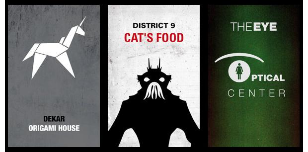 Дизайнеры создали визитные карточки героев Голливуда. Изображение № 3.