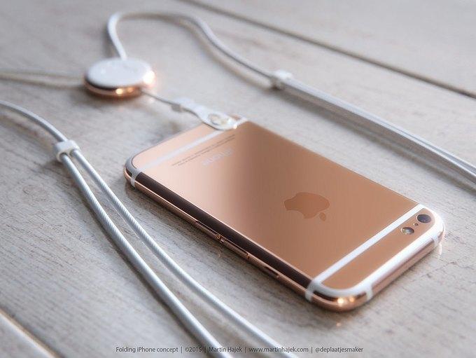 Дизайнер создал концепт раскладного iPhone 6 . Изображение № 5.