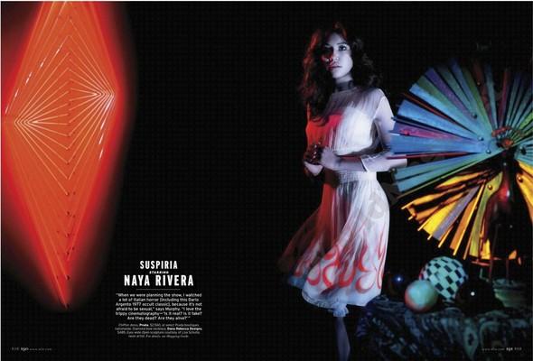 Съёмка: Актрисы из «Хора» и «Американской Истории Ужасов» для Elle. Изображение № 4.