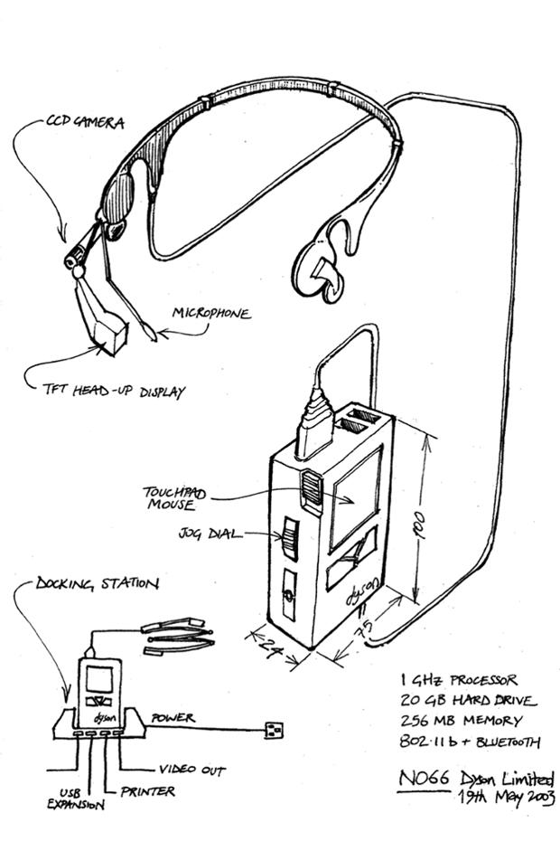 Производитель пылесосов опубликовал концепт смарт-очков 2001 года. Изображение № 4.
