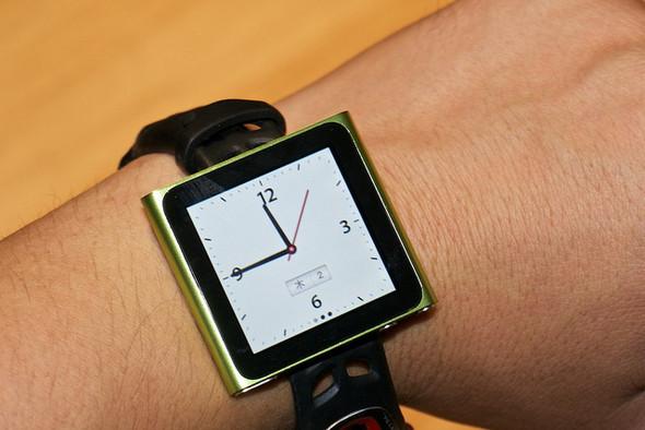 Элегантное превращение iPod nano в эффектные наручные часы. Изображение № 1.