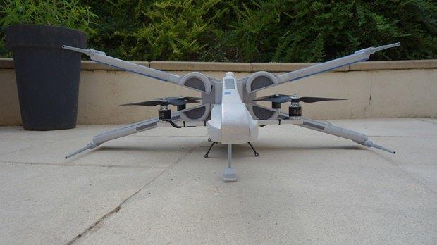 Энтузиаст собрал дрон в виде истребителя X-Wing. Изображение № 17.
