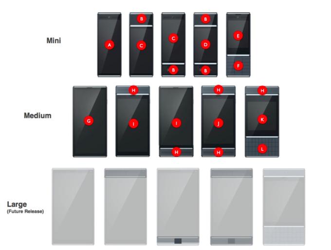 Модульные смартфоны Google Ara могут выпустить в трёх размерах. Изображение № 1.
