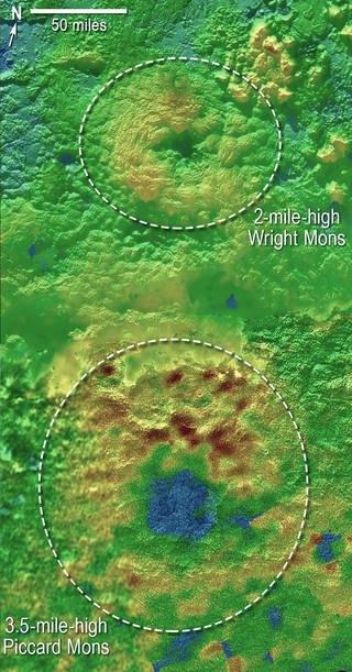 Гора Райта (вверху) и гора Пиккарда. Изображение № 2.