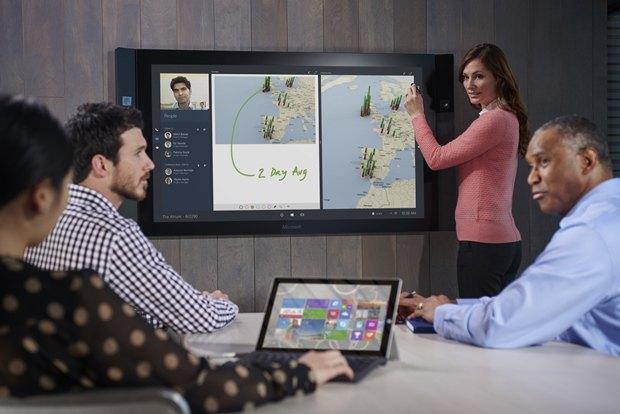 Microsoft назвала цену тачскрина на84 дюйма Surface Hub. Изображение № 3.