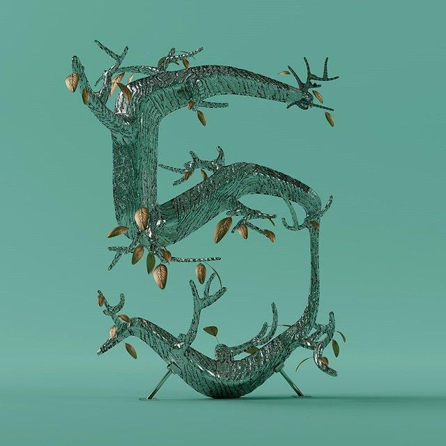 Дизайнер создал абстрактные объекты на основе цифр. Изображение № 6.