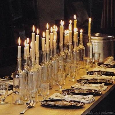 Новогодние украшения из винных бутылок. Изображение № 3.