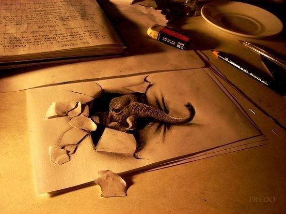 """Изображение 1. Реалистичные 3D рисунки """"в карандаше"""".. Изображение № 1."""