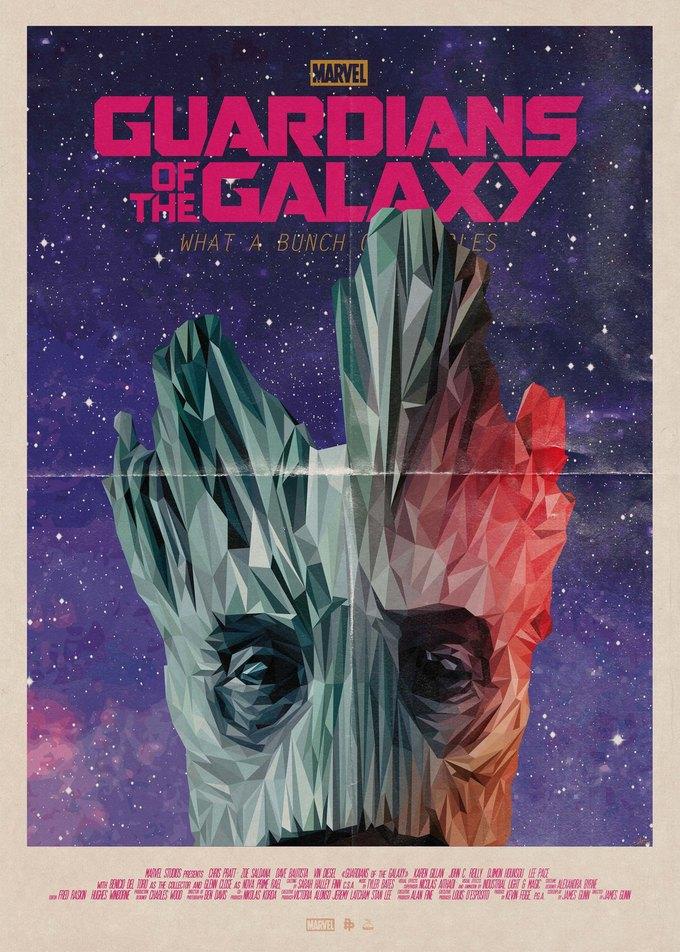 Опубликованы 44 фанатских постера к «Стражам Галактики». Изображение № 14.