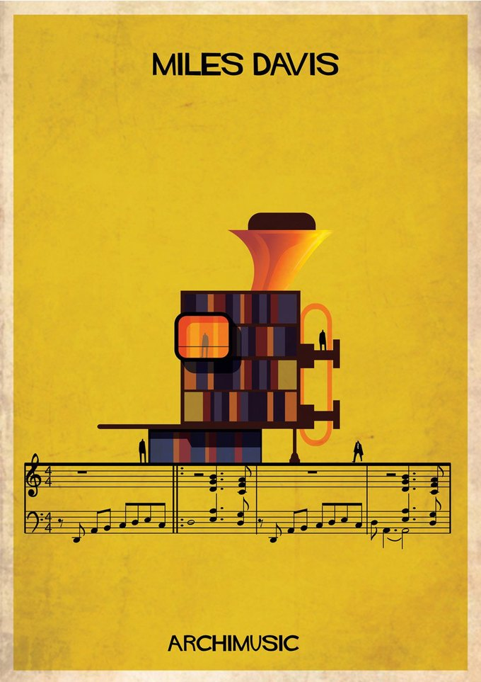Испанский архитектор превратила песни в здания для новой серии плакатов . Изображение № 1.