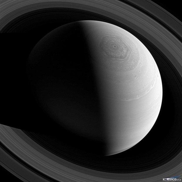 Сатурн, снятый на камеру Cassini . Изображение № 8.