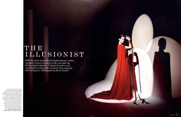 Съемка: Саския де Брау для британского Vogue. Изображение № 1.