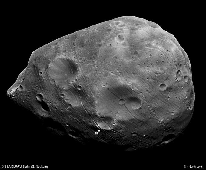 NASA может полететь на Марс через Фобос . Изображение № 1.