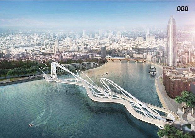 Выложены 74 проекта нового моста через Темзу. Изображение № 3.