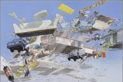 Летающие беспорядки накартинах Адама Цвияновича. Изображение № 7.