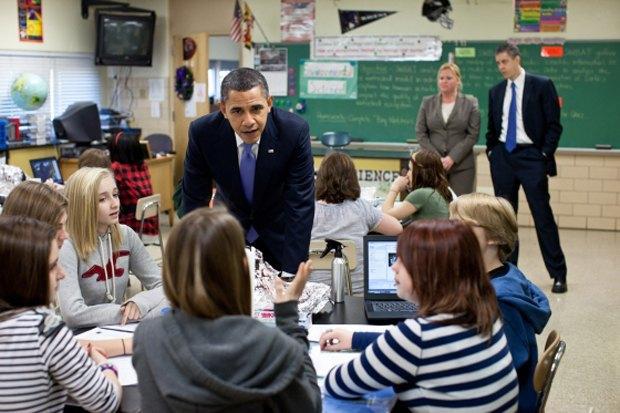 Барак Обама в средней школе Парквиля. Изображение № 1.
