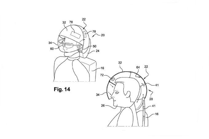Airbus запатентовал шлем виртуальной реальности для пассажиров. Изображение № 3.