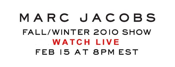 MARC JACOBS FW 2010 WATCH LIVE!. Изображение № 1.